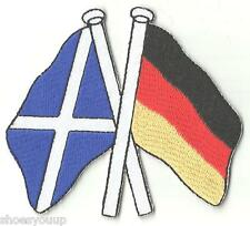 SCOTLAND & GERMANY FRIENDSHIP FLAGS WORLD EMBROIDERED PATCH BADGE
