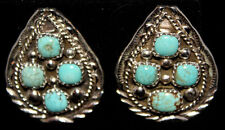 New Stunning Navajo Spider #8 Turquoise and Sterling Silver Earrings