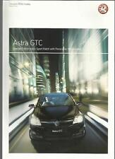 VAUXHALL ASTRA GTC SPECIAL EDITION SPORT HATCH SALES BROCHURE  MAY 2006