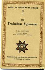 ALGERIE. LES PRODUCTIONS ALGERIENNES. CAHIER CENTENAIRE