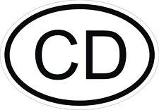 CD CORPS DIPLOMATIQUE code pays Autocollant OVAL pare-chocs casque de moto