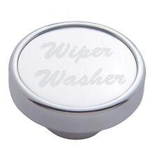 knob wiper washer silver aluminum sticker for Kenworth Peterbilt Freightliner