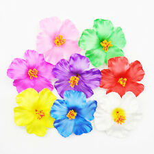 10 30 50 100 Artificial Silk Hibiscus Fake Flowers Heads Wedding Party Plumeria