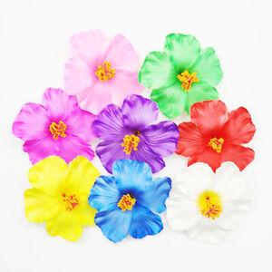 10 30 50 100 Artificial Silk Hibiscus Fake Flowers Heads Wedding Party Plumeria