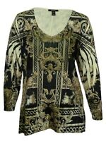 Style & Co Women's Printed V-Neck Tunic Blouse