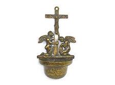 Weihwasserkessel um 1920 Bronze Engel Kruzifix