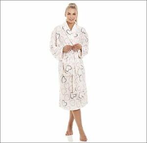 Peignoir Femme Super Doux Robe de Chambre Molleton idée cadeau noel