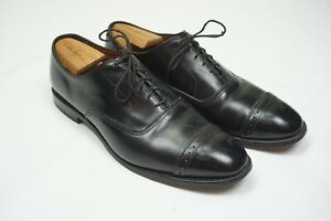 Allen Edmonds Black Leather Broque Captoe Leather Dress Shoes Sz 10.5E