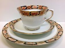 "Royal Albert Crown China Countess Shape ""Fruit Border"" Pattern Tea Cup Trio."