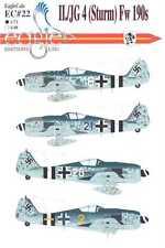 EagleCals Decals 1/72 FOCKE WULF Fw-190 Fighters II/JG 4 Sturm