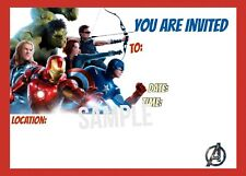 Avengers Invitations with matching envelopes, birthday 12pack