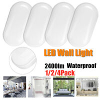1/2/4 Pack Oval Wall Ceiling Light LED Neutral White In/Outdoor Waterproof Lamp