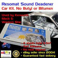 Car Sound Deadener Kit Pack Heat Proof Adhesive Silver Foil No Butyl or Bitumen