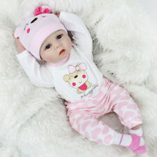 22'' Lifelike Newborn Babies Silicone Vinyl Reborn Baby Dolls Handmade Xmas Gift