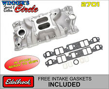 Edelbrock 2701 Perf EPS Intake SB Chevy w/ FREE Intake Gaskets