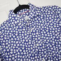 ETON Contemporary Button Up Dress Slim Shirt Mens 38 /15 Blue Floral Long Sleeve