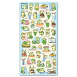 CUTE TURTLE STICKERS Fun Animal Sticker Sheet Kawaii Kids Craft Scrapbook Green