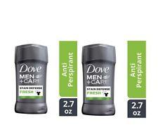 2 Ct Dove Men Care 2.7 Oz Fresh  Stain Defense Anti Yellow 48 Hr Antiperspirant