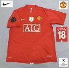 Original Manchester United Football Shirt SCHOLES 2008 (M) Vintage Nike