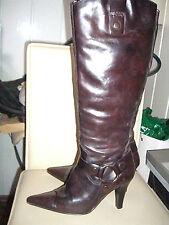 Stiefel Leder High Heels Gr. 38 braun Absatz *Neu*