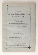 1882 Imperial Russian METEORITE from SANARKA & List of METEORITES Antique Book