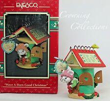 Enesco Mice Have a Darn Good Christmas Treasury of Christmas Ornament Sewing MIB