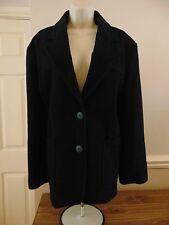 Ladies black long sleeve coat - 70% Wool - Size 14 - BHS