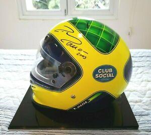 Felipe Massa signed Bell Replica (Bell K1 Sport SA2000) painted by SID Brasil