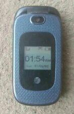 ( Use) Zte Z222 Dark Blue 3G Gsm Unlocked Cellular Flip Phone with Camera