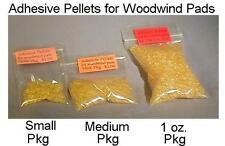 Adhesive pellets 1 oz pkg/ repair replace flute oboe clarinet sax, etc. pads