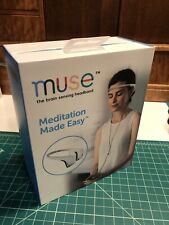 Muse: Brain Sensing Meditation Headband w Retail Box MU-02 Rare White! Mindful