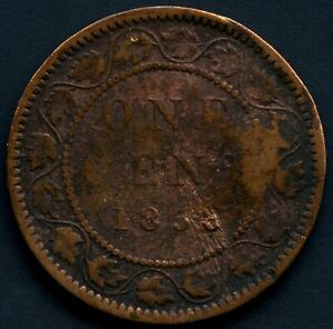1858 Canada 1 Cent Coin