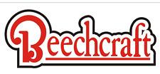 A245 Beechcraft Airplane banner hangar garage decor Aircraft signs