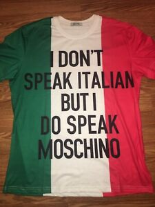 moschino t shirt xl authentic
