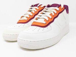 Nike Air Force 1 '07 LV8 Low Sneakers Sail Orange Berry AO2439-101 Men's Sz 10