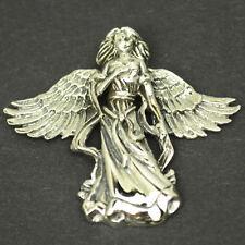 Engel Anhänger 925 Silber Schutzengel Schutz Engelsanhänger Elfe Fee Band AS038