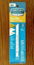 "Century jigsaw blade 10 TPI Cobalt Bimetal wood/PVC/plastic 06210 3 5/8"""