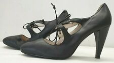 AUTOGRAPH ladies womens black Mary Jane leather lined lace shoes Size UK 5 EU 38