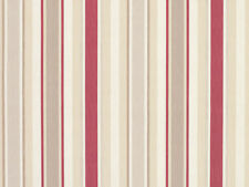 3 METRES LAURA ASHLEY AWNING STRIPE CASSIS FABRIC COTTON/LINEN BLEND