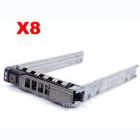 "Lot of 8pcs, 2.5"" SAS SATA HDD Hard Drive Tray Caddy For Dell PowerEdge R520 New"
