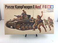 Vintage Rare: TAMIYA PANZER KAMPFWAGEN ll AUSF. F/G  #09 - 1/35 Scale Model Kit