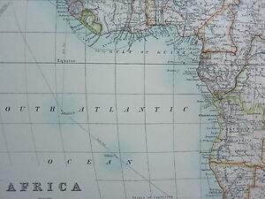 1910 MAP ~ AFRICA ~ EUROPEAN POSSESSIONS SUDAN EGYPT SAHARA CAPE COLONY