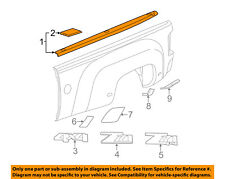 GM OEM Bed or Tailgate-Top Molding Trim Protector Cap 17802475