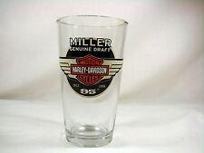 Miller Genuine Draft Harley Davidson Motor Cycles 95th Anniversary Pint Glass