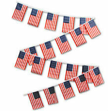 30ft String Flag Set USA American United States 12x18 Bunting Flag Banner Flags