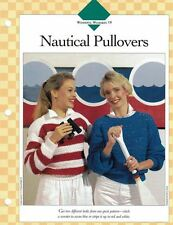 Ladies Nautical Pullover Sweaters Single Pattern Vanna White with 2 Versions