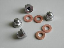 4pcs Honda CB125S S1 CB100 CL100 S110 Cylinder Head Nut Cap 8mm + Washer Sealing