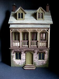 Exquisite 1/48th 1:48 quarter scale 3 storey dolls' house by Celia Mayfield