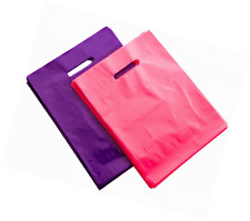 "200 9"" X 12"" Pink and Purple Merchandise Bags, Recyclable Glossy Shopping Bags,"
