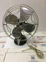 Vintage Industrial Oscillating Electric Fan Eskimo Model 1005M-60 Part or Repair